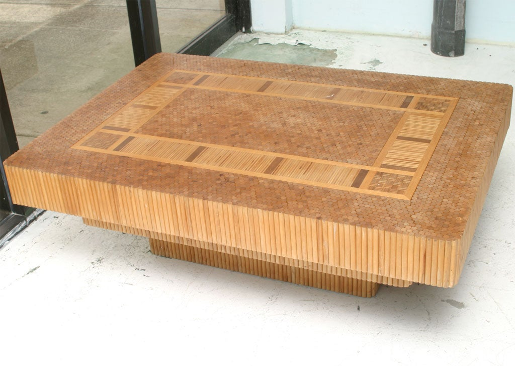Organic Doweled Coffee Table At 1stdibs
