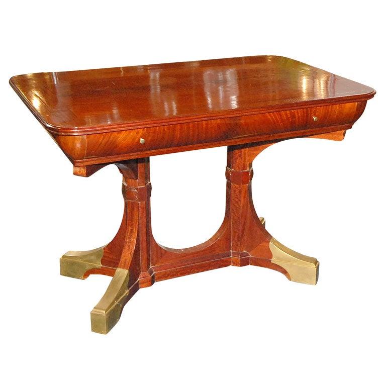 Mahogany Table with Brass Sabots