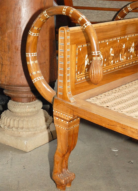 Mid-20th Century Ancient Egyptian Style Chaise Lounge For Sale