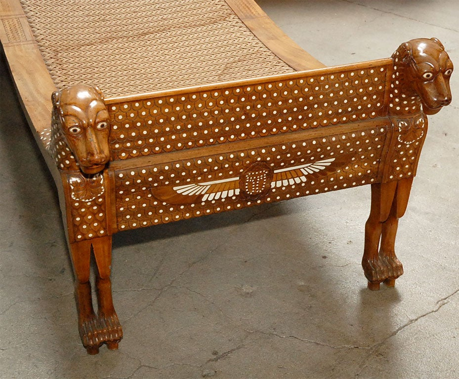 Ancient Egyptian Style Chaise Lounge For Sale 3