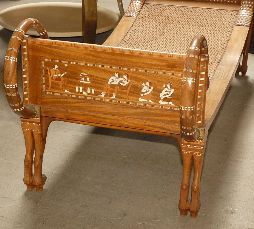 Ancient Egyptian Style Chaise Lounge For Sale 4