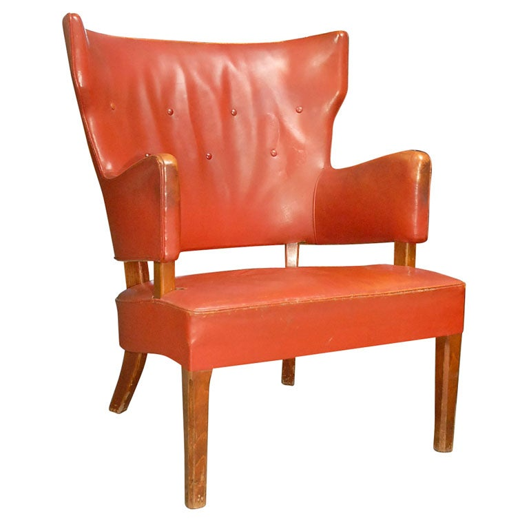 Peter hvidt overstuffed easy chair at 1stdibs for Overstuffed armchair