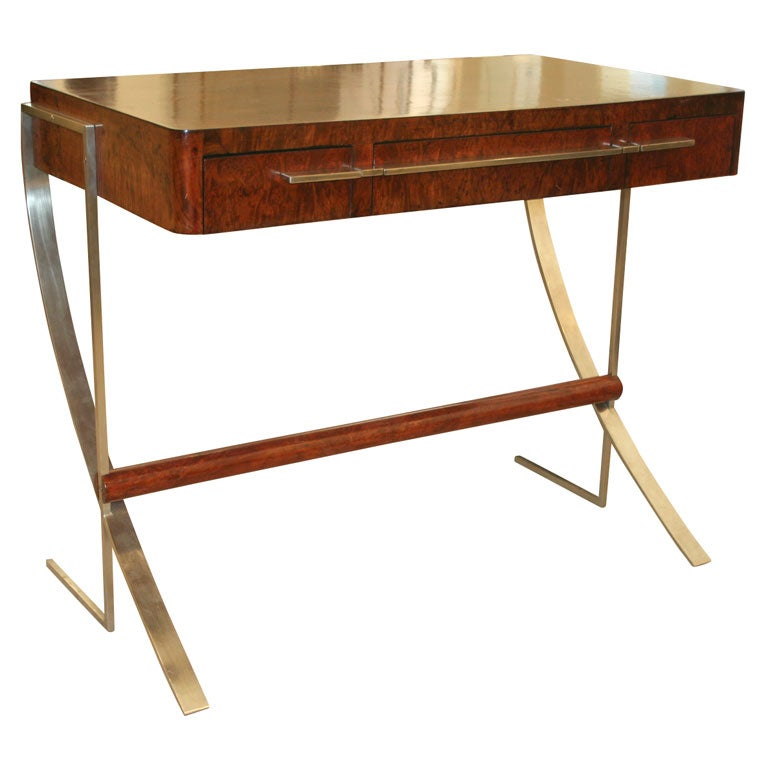 small writing desk in the style of rene herbst at 1stdibs