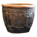 Large Floral Relief Urn