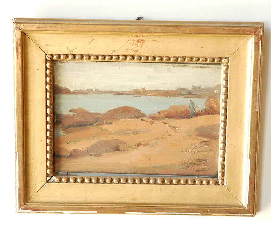 Pr. of French Paintings,  Coastal Scenes by Hubert D. Etcheverry image 3