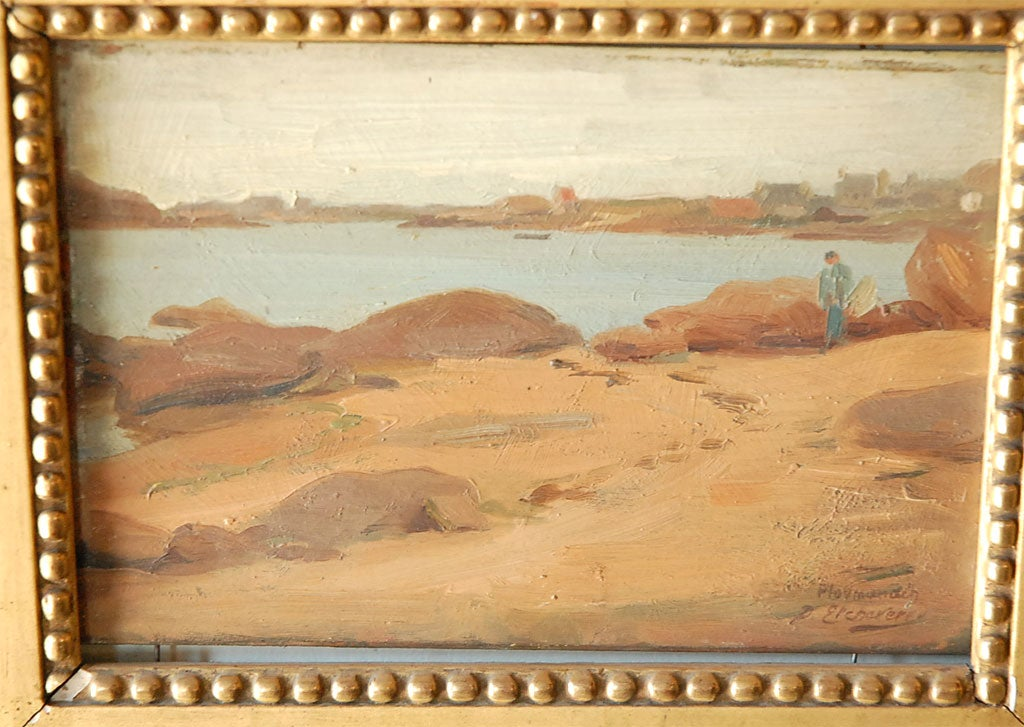 Pr. of French Paintings,  Coastal Scenes by Hubert D. Etcheverry image 5
