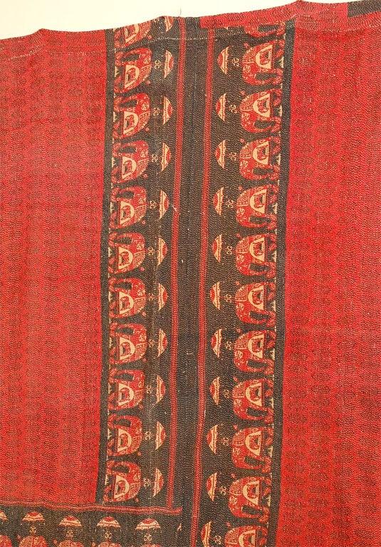 Indian Vintage Jalli Gypsy Quilt For Sale