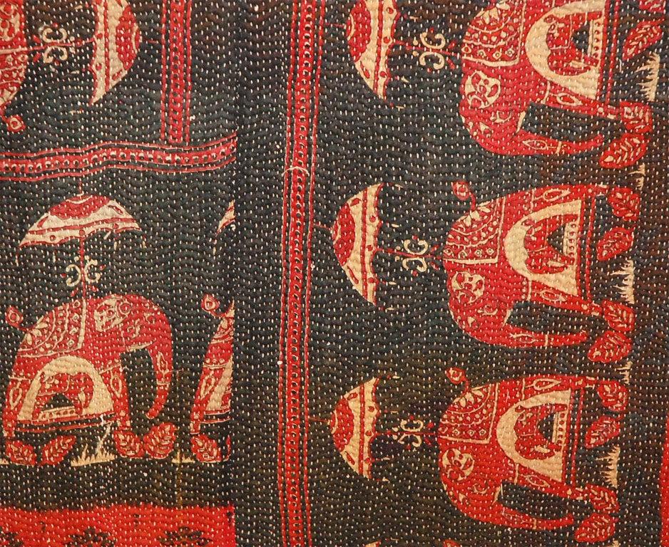 Vintage Jalli Gypsy Quilt For Sale 1