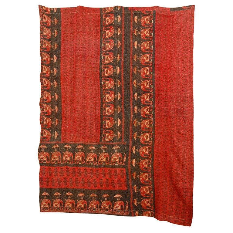 Vintage Jalli Gypsy Quilt For Sale