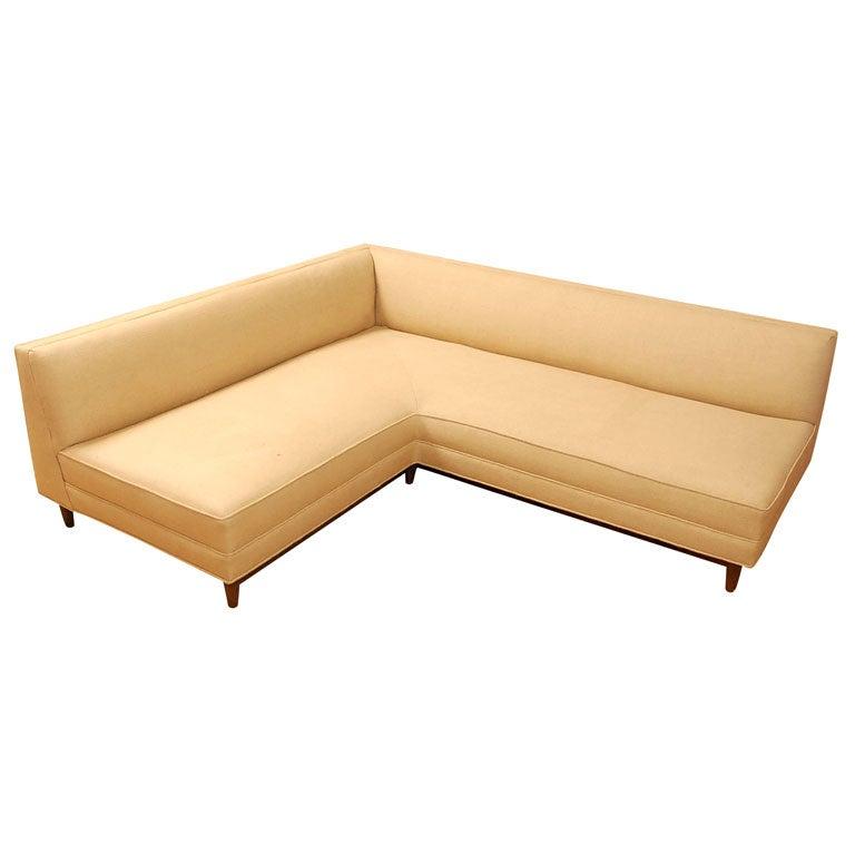 Vintage One Piece L Shaped Corner Sofa At 1stdibs