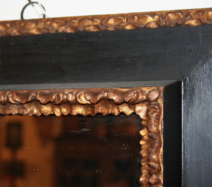 18th Century and Earlier 17th Century Italian Painted and Giltwood Frame with Mirror For Sale
