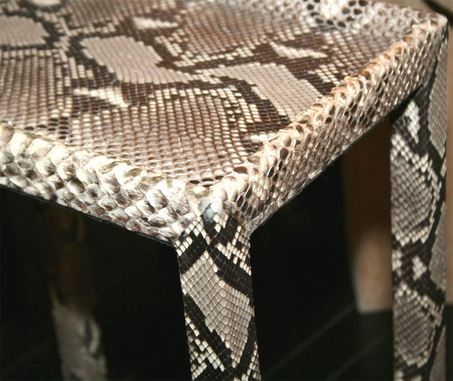 Telephone table covered in python by karl springer at 1stdibs for Table in python