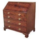 Antique English Georgian mahogany slant front desk