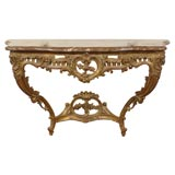 19th Century French Marble Top Console