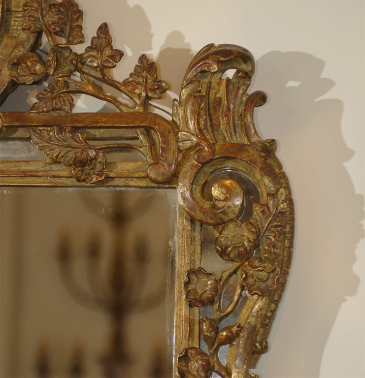 French Louis XV Trumeau Mirror In Excellent Condition For Sale In Atlanta, GA