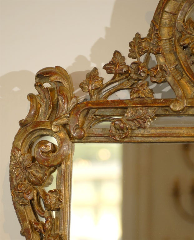 French Louis XV Trumeau Mirror For Sale 1