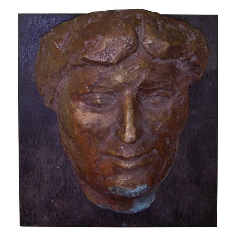 1964 sculpted bronze head by koch at 1stdibs for Koch yamaguchi