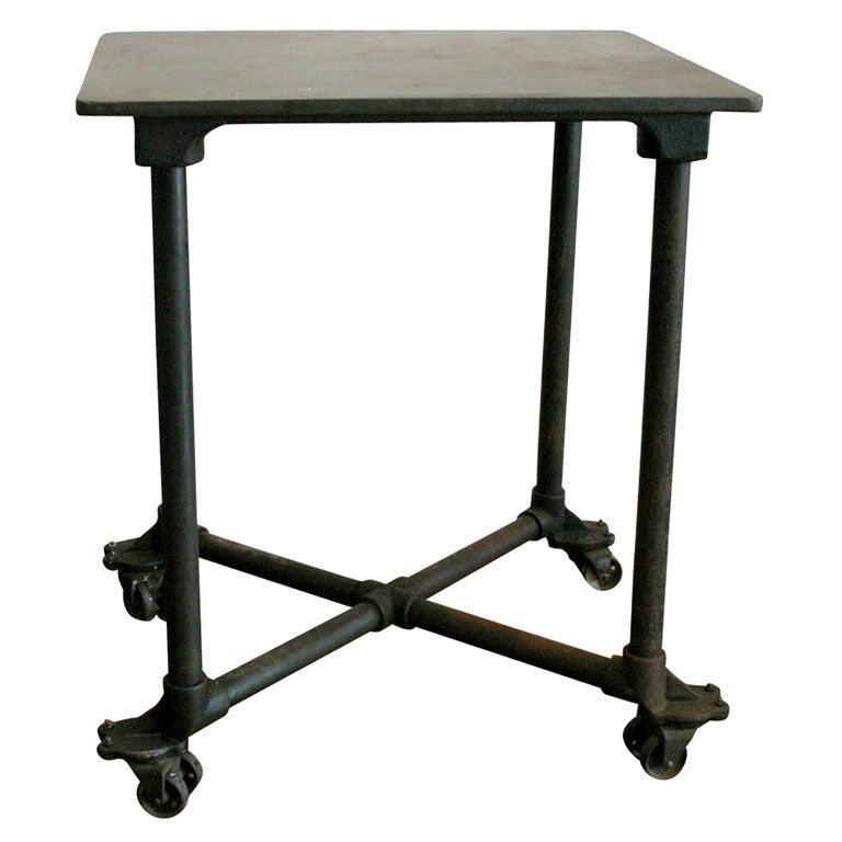 iron table on wheels at 1stdibs. Black Bedroom Furniture Sets. Home Design Ideas
