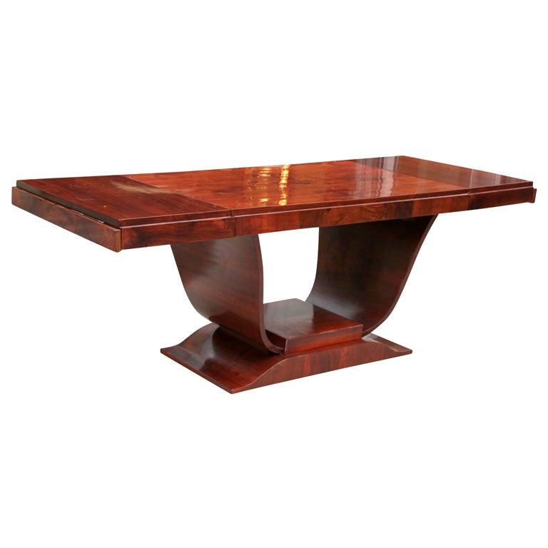 Art Deco Dining Table With Pedestal Base At 1stdibs