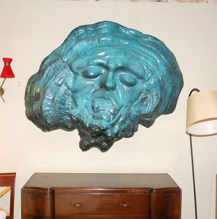 Modern 1960s Resin Wall Sculpture For Sale