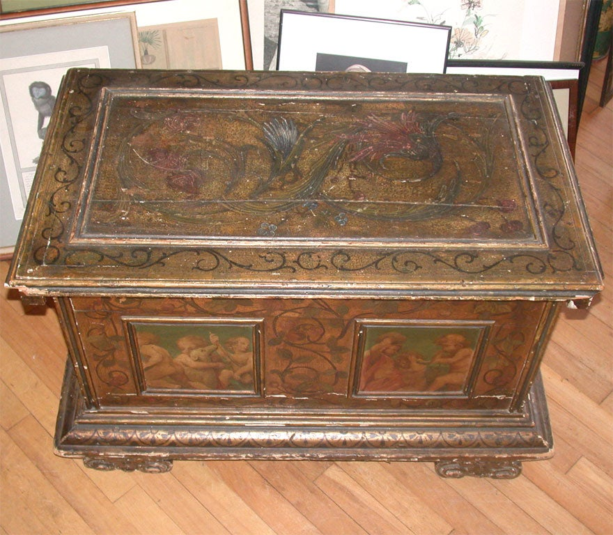 Italian hand painted chest at 1stdibs for Italian painted furniture