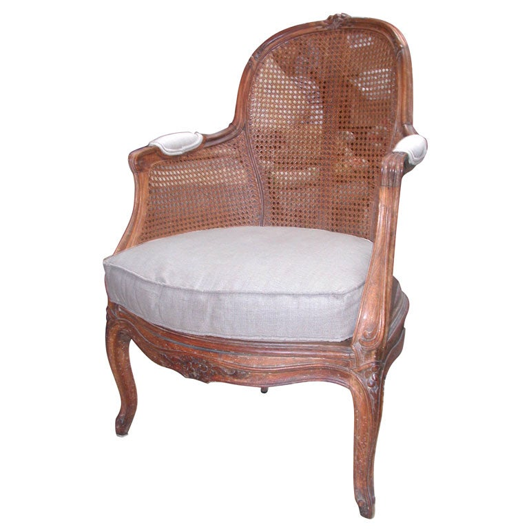 small caned bergere at 1stdibs