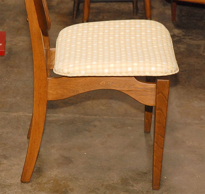 Set of 7 dining chairs by unknown designer at 1stdibs for Designer 8 furniture