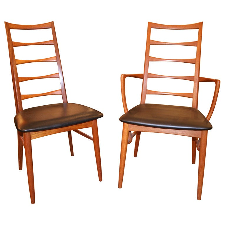 1960's Danish Teak Dining Chairs At 1stdibs