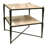 50's Italian Iron and Marble Tall Coffee Table/End Table