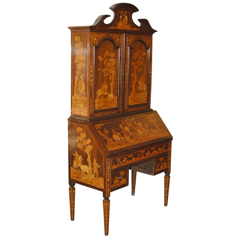 19th century inlaid italian secretary at 1stdibs for Sideboard lindholm