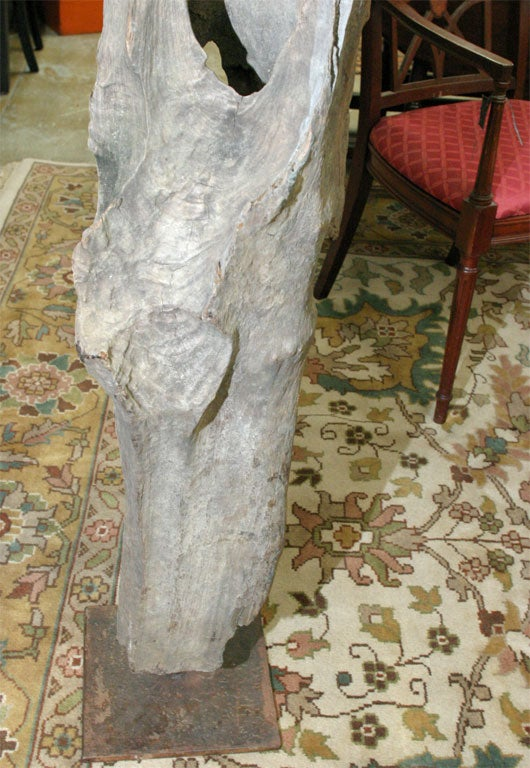 20th Century Natural Wood Sculpture For Sale
