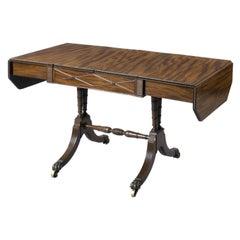 English Regency Sofa Games Table