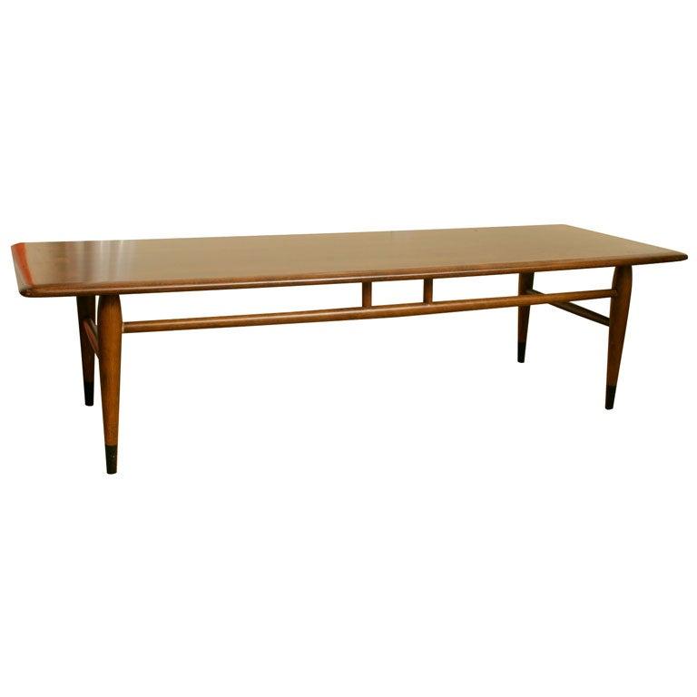 Lane Walnut Coffee Table At 1stdibs