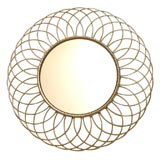 Nickel Silver Round Looped Mirror