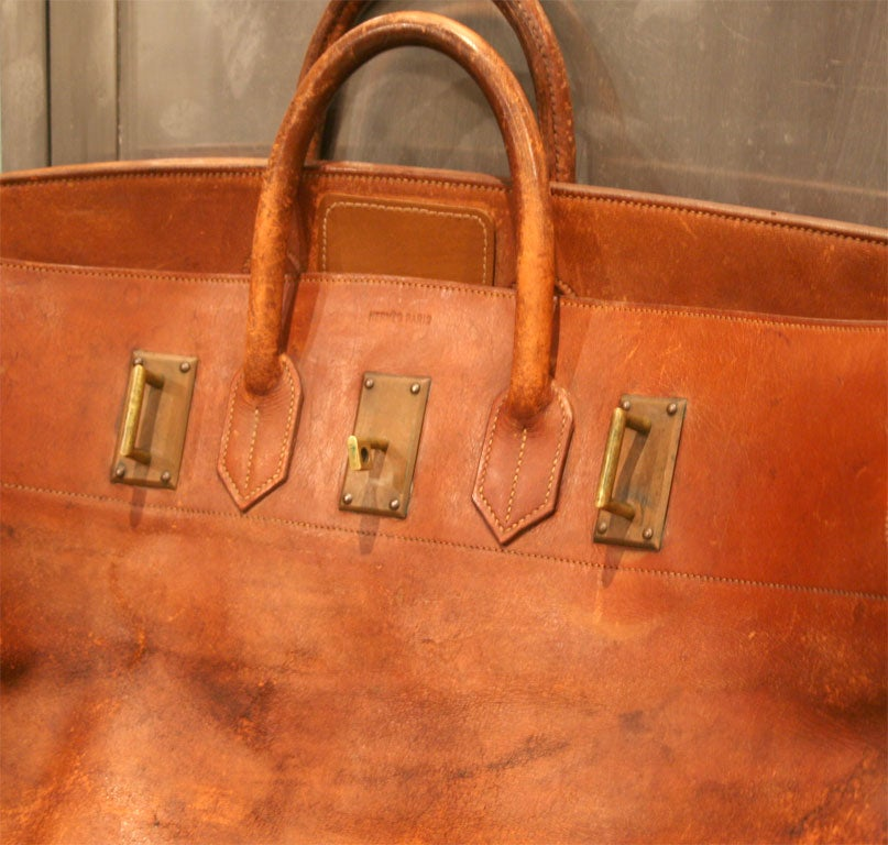 Giant Hermes HAC Leather Travel Bag For Sale 2