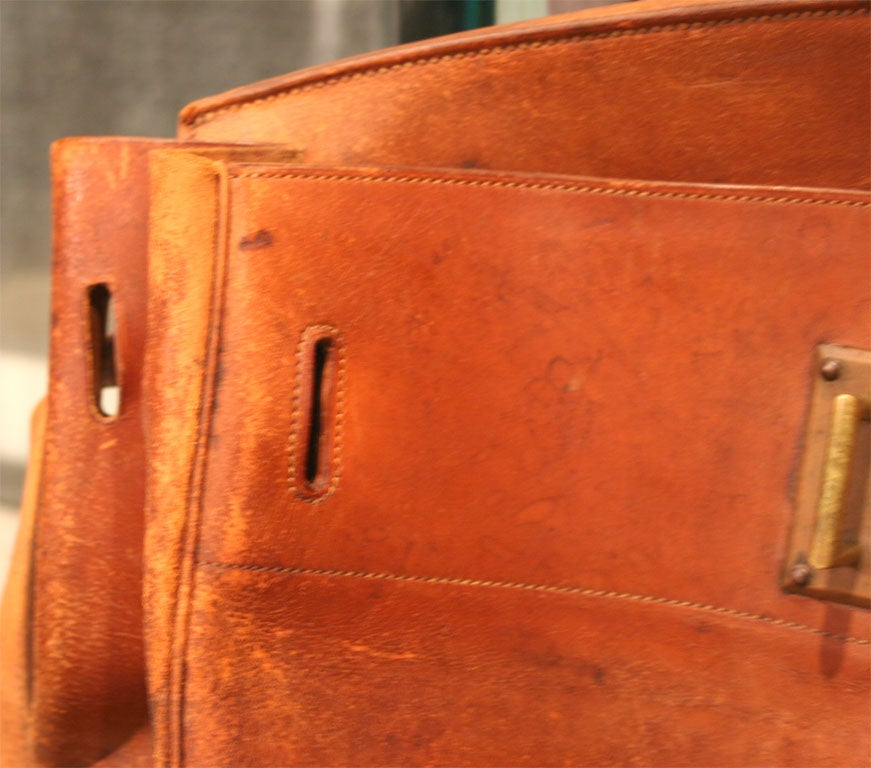 French Giant Hermes HAC Leather Travel Bag For Sale