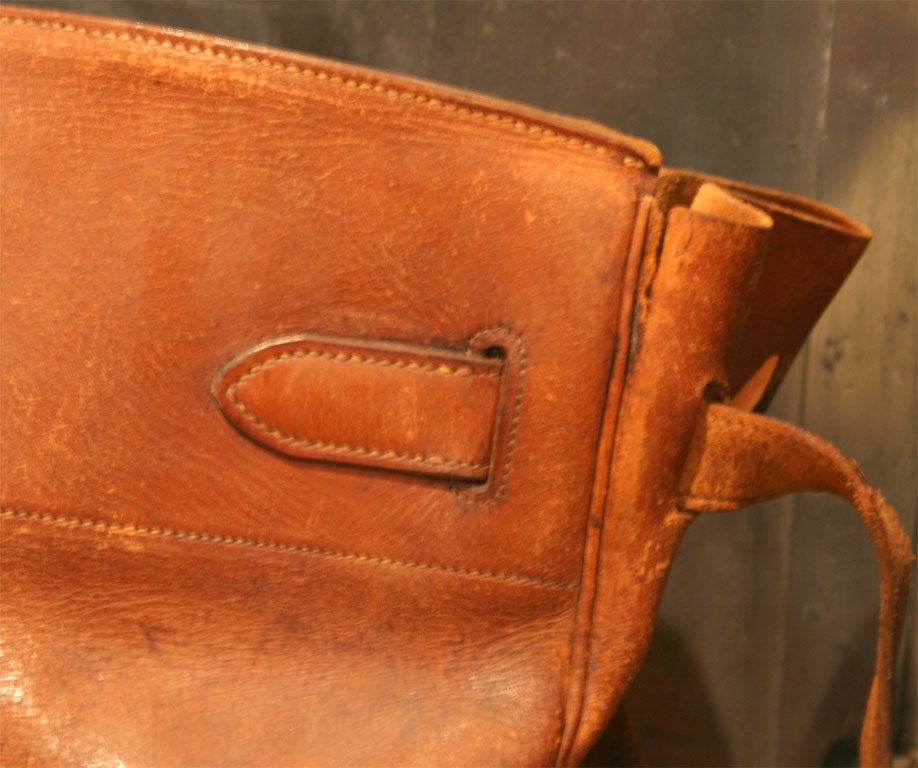 Giant Hermes HAC Leather Travel Bag For Sale 1