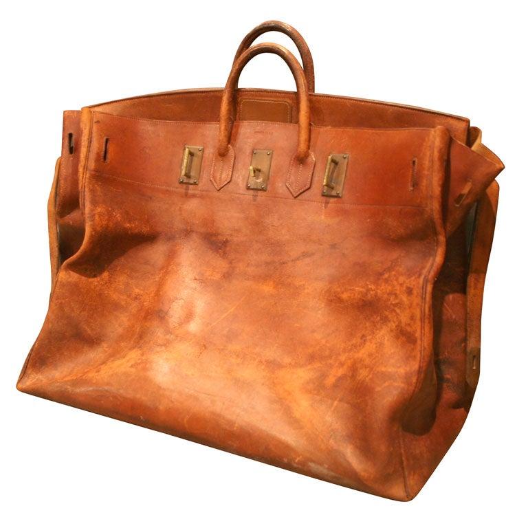 Giant Hermès Birkin Leather Travel Bag, 1940.