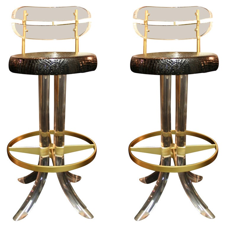 Pair Of Decadent Barstools At 1stdibs
