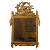 Louis XVI Gilt-Wood Mirror with Crest, c. 1780