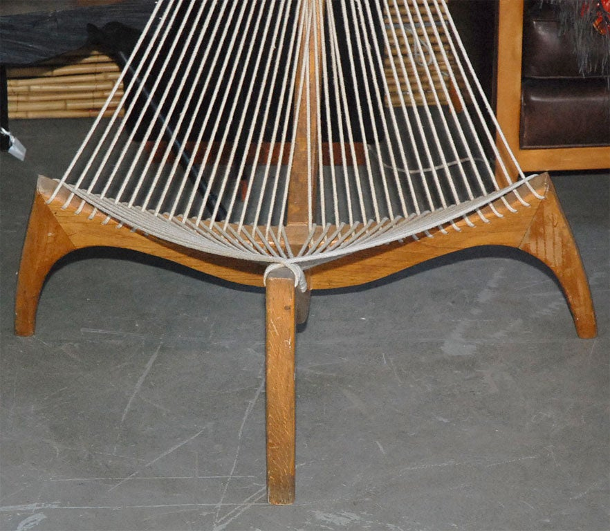 Wood And Rope Chair At 1stdibs