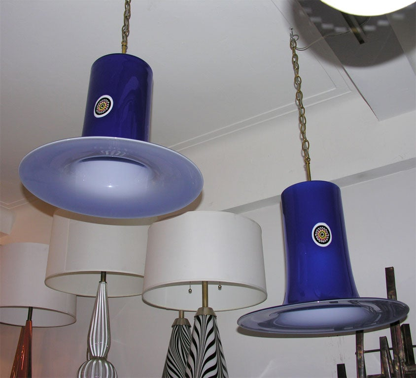 Pair of 1960s Italian Hanging Fixtures by Alessandro Pianon 2