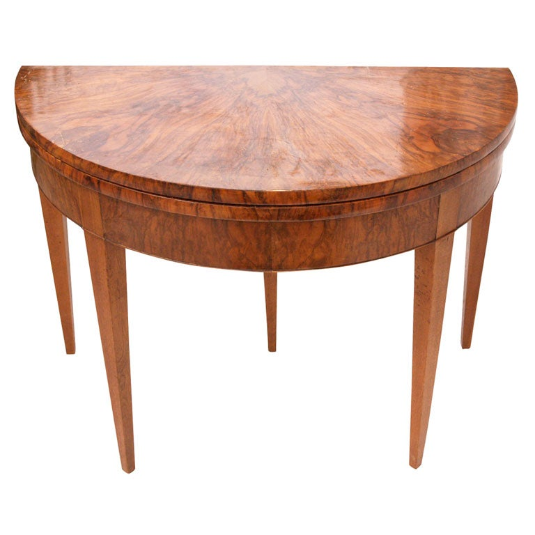 19th c french fruitwood very unique demi lune dining for Really cool dining tables