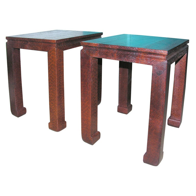 Pair of python side tables at 1stdibs for Table in python