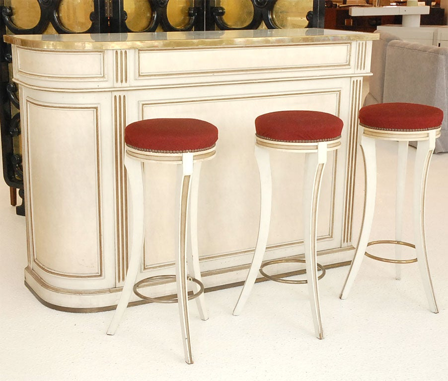 A Marble-Topped Bar and Stools by Maison Jansen image 2