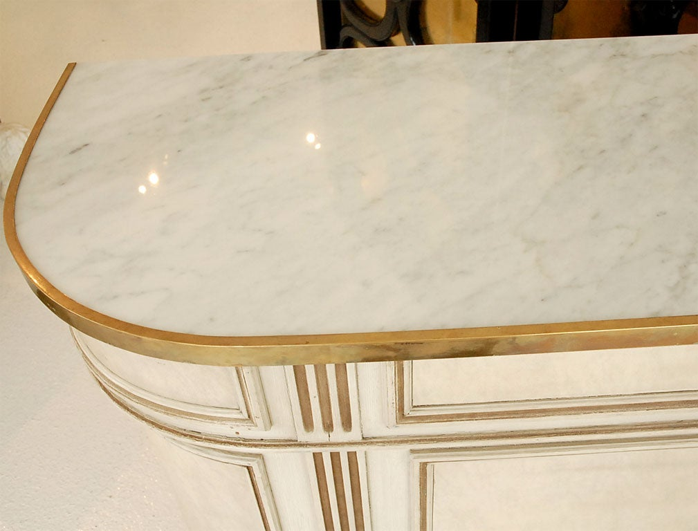 A Marble-Topped Bar and Stools by Maison Jansen image 4