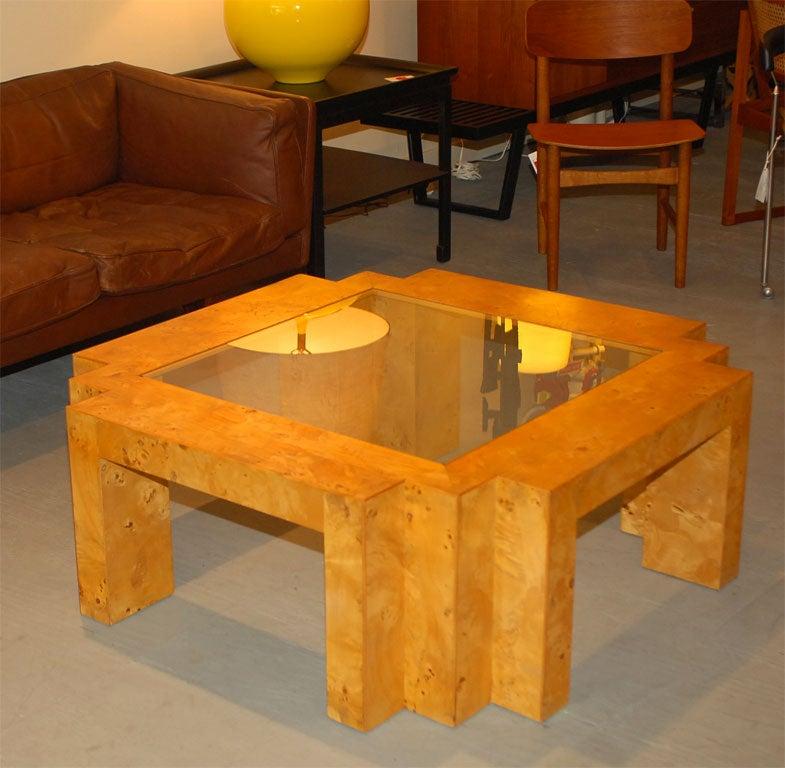 Italian Constructivist Burl Coffee Table At 1stdibs