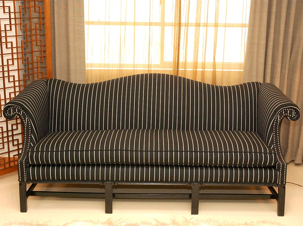 Striped Chippendale Sofa At 1stdibs