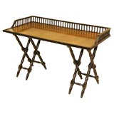 Campaign Style Brass Top Writing Desk