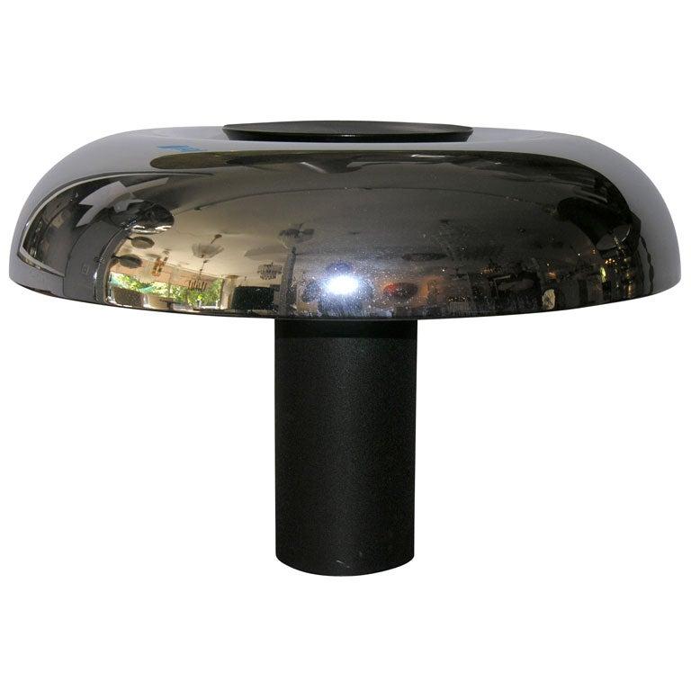 Fantastic Italain Desk Lamp Lumenform 1970 In Chrome At